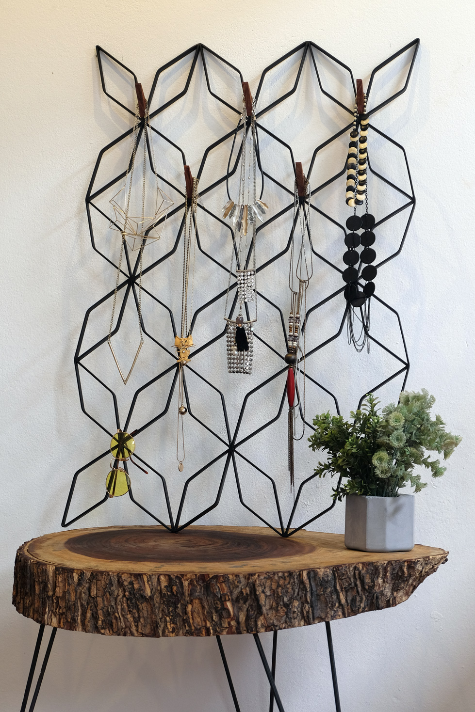 Handmade wall organizer grilles Butterfly