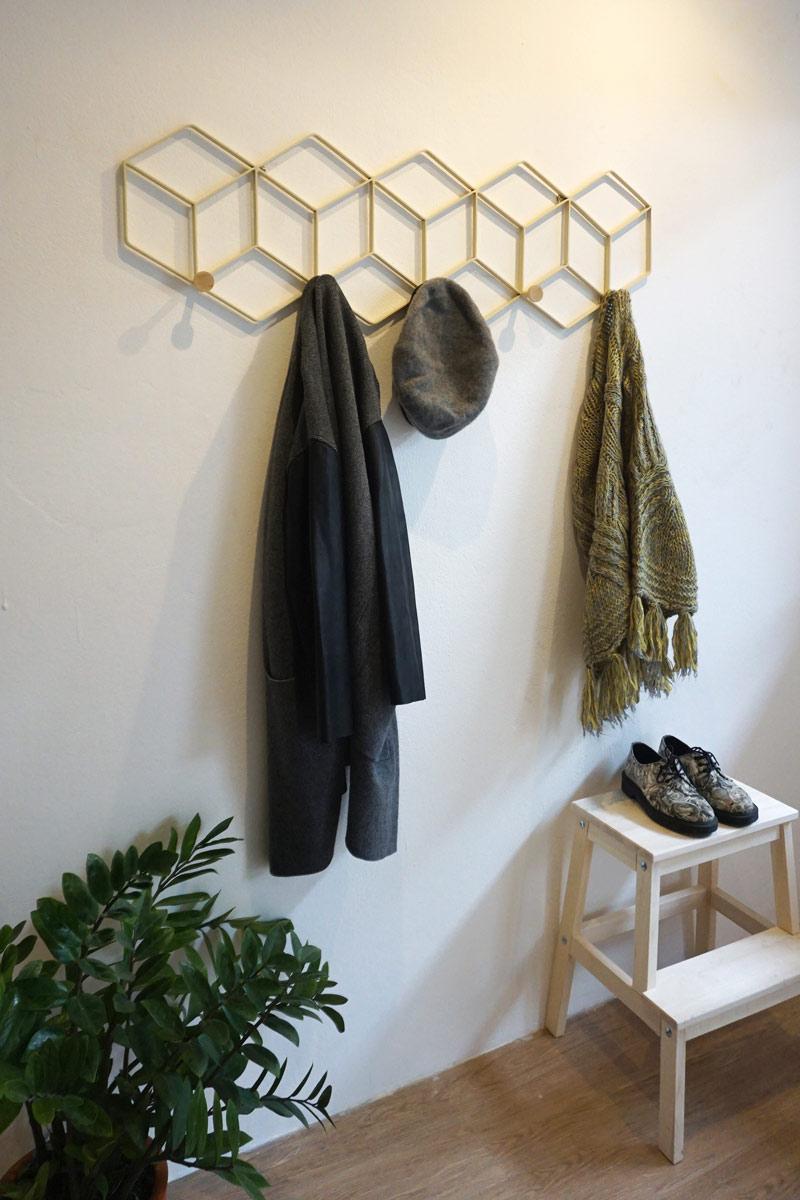 Handmade coat rack and wall decor