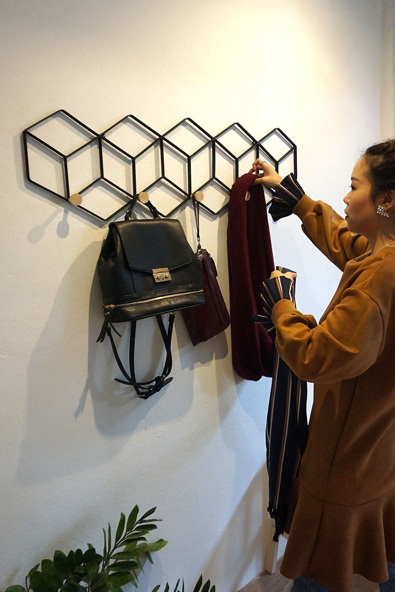 entry wall coat rack