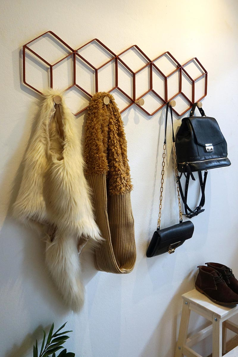 Coat rack and wall decorative