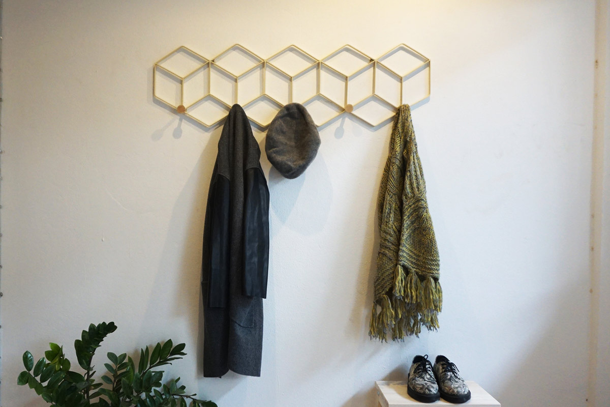 Handmade coat rack and wall decor